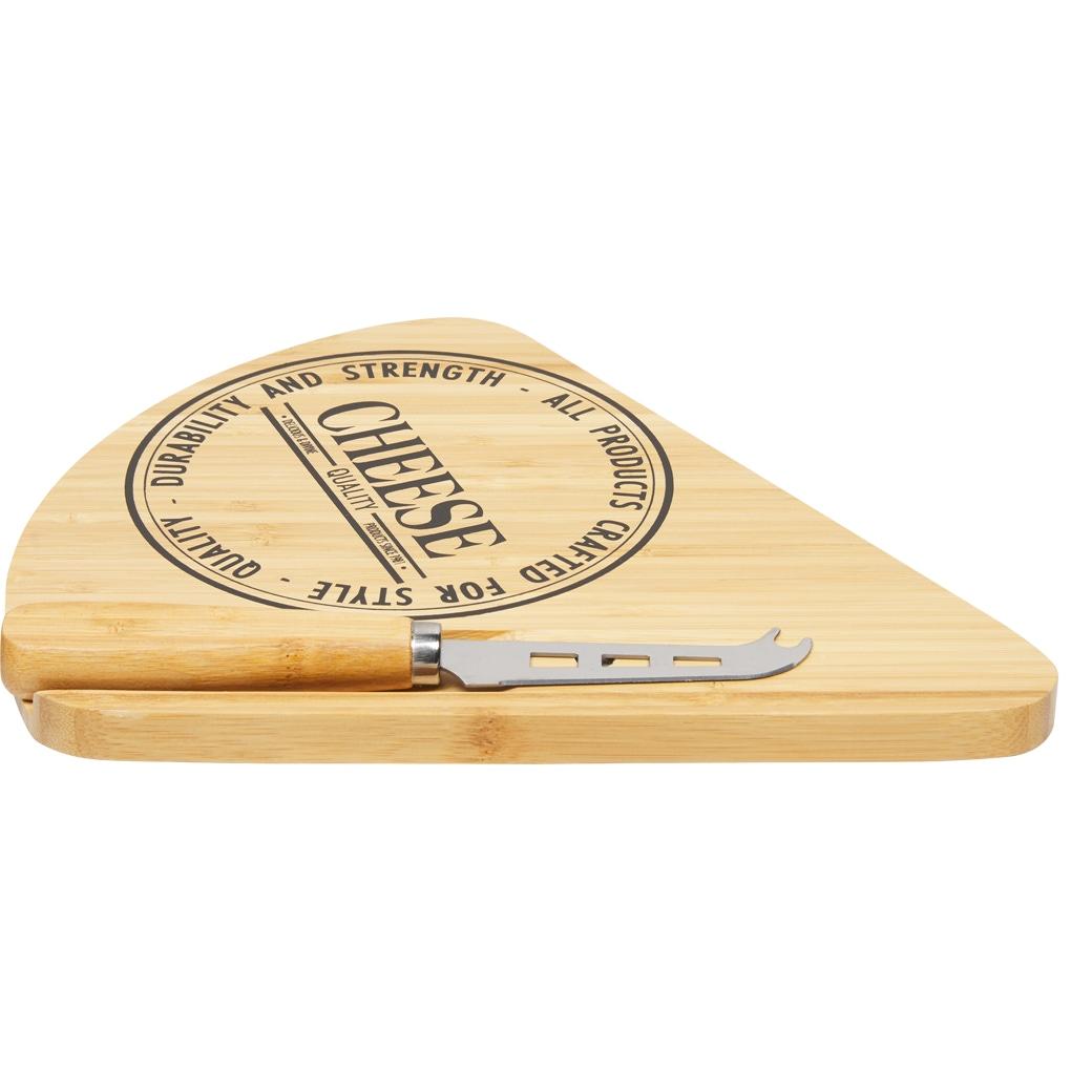 Käsebrett Set aus Bambus