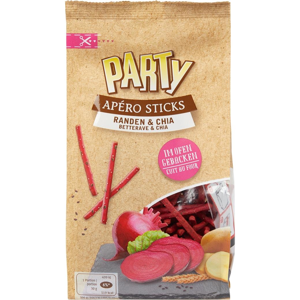 Party Apéro Sticks «Randen & Chia» - 120g