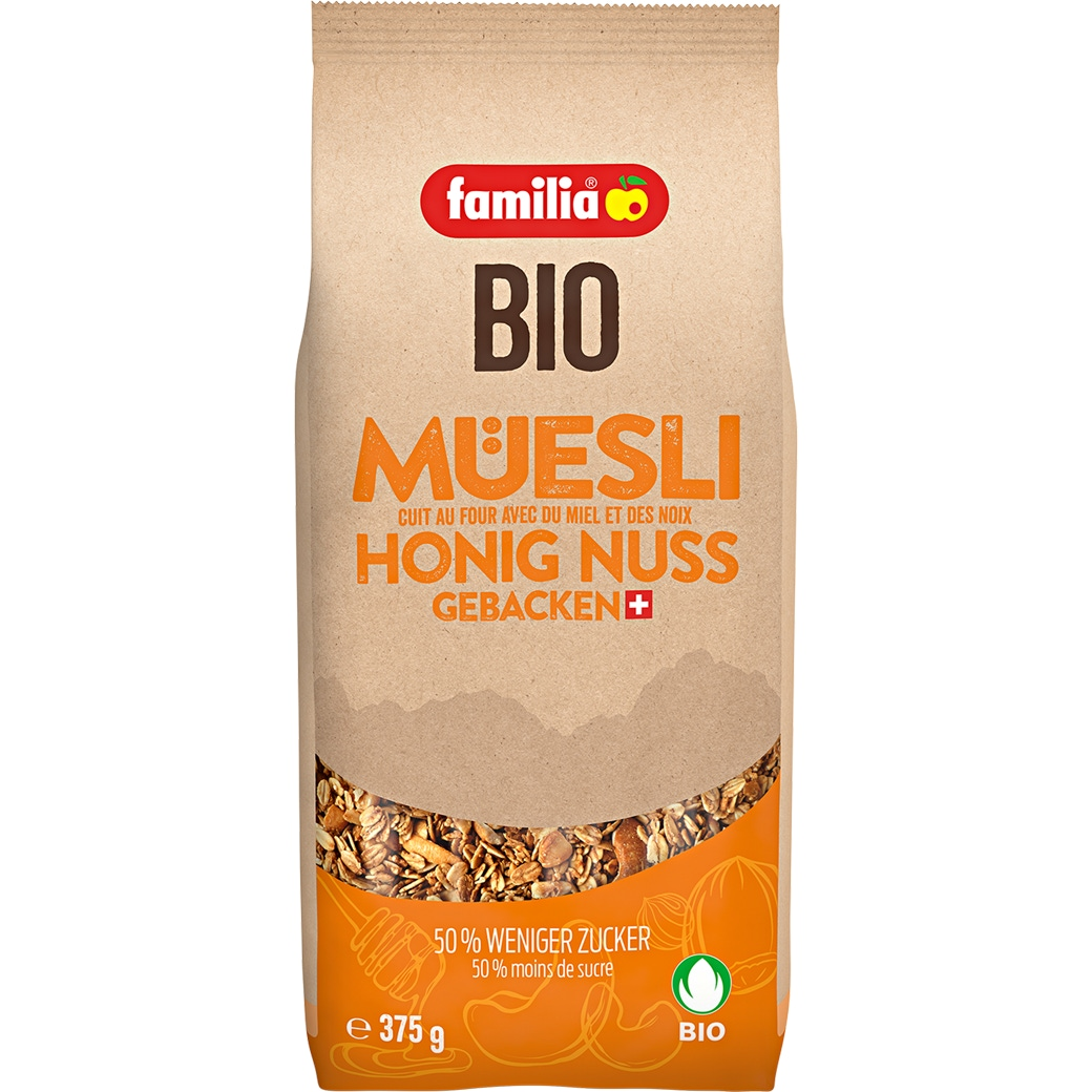 Familia Bio Müesli Honig Nuss gebacken - 375g