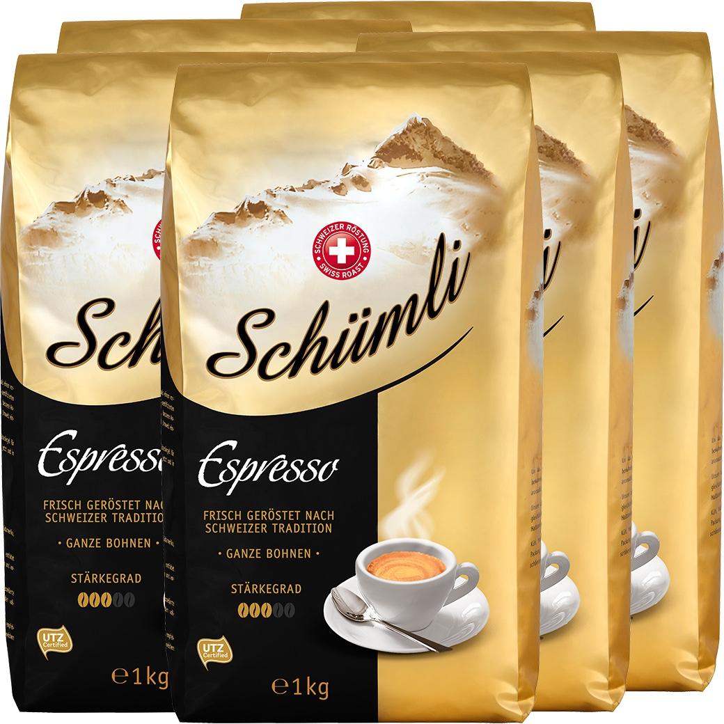Kaffee Schümli Espresso Bohnen - 8x1kg
