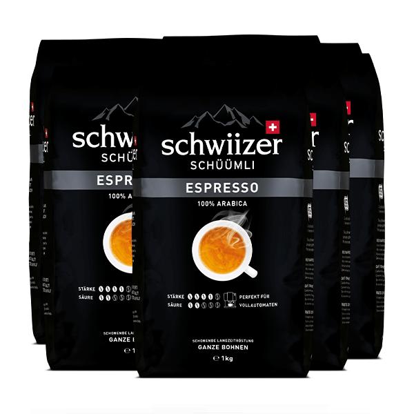 «Schwiizer Schüümli» Espresso Bohnen - 8x1kg