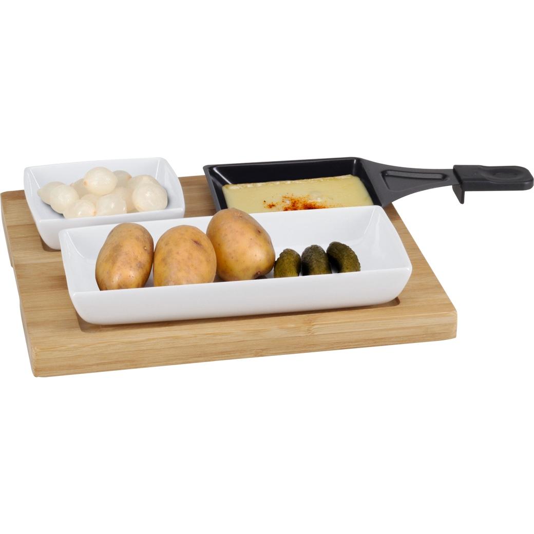 Raclette-Teller «Bambus» - 5-teilig