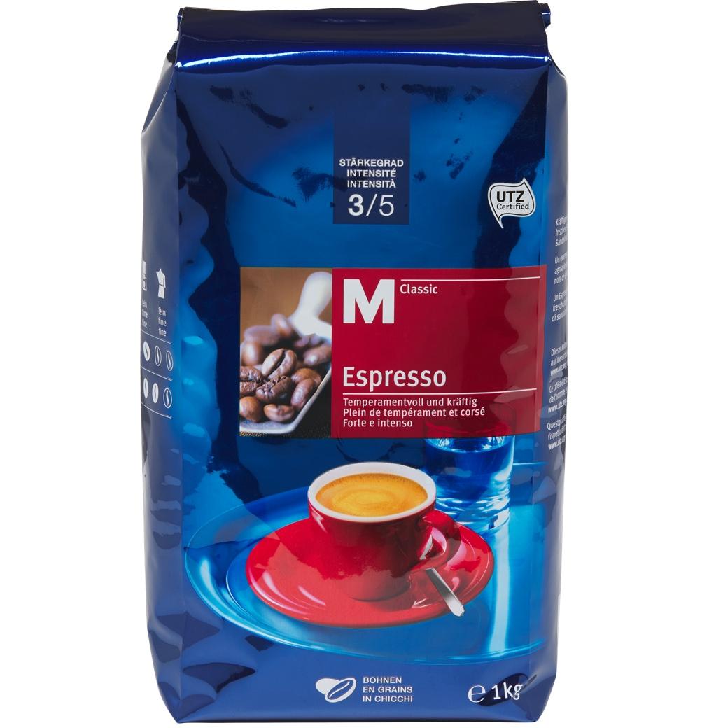 Kaffee Espresso 'M-Classic Bohnen' 4x1kg