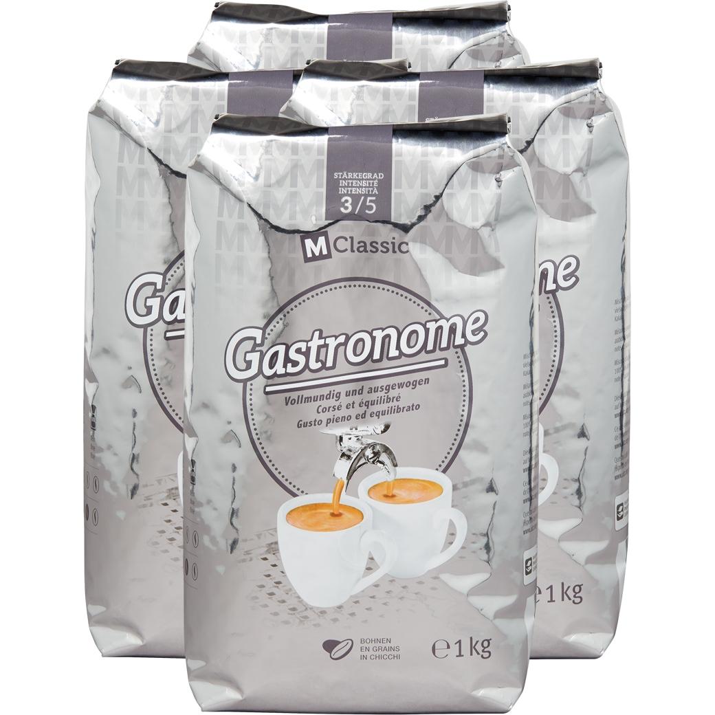 Kaffee Gastronome M-Classic Bohnen - 4x1kg