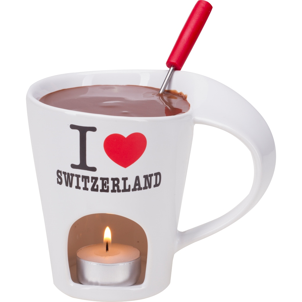 Schokoladenfondue-Set 'I Love Switzerland'