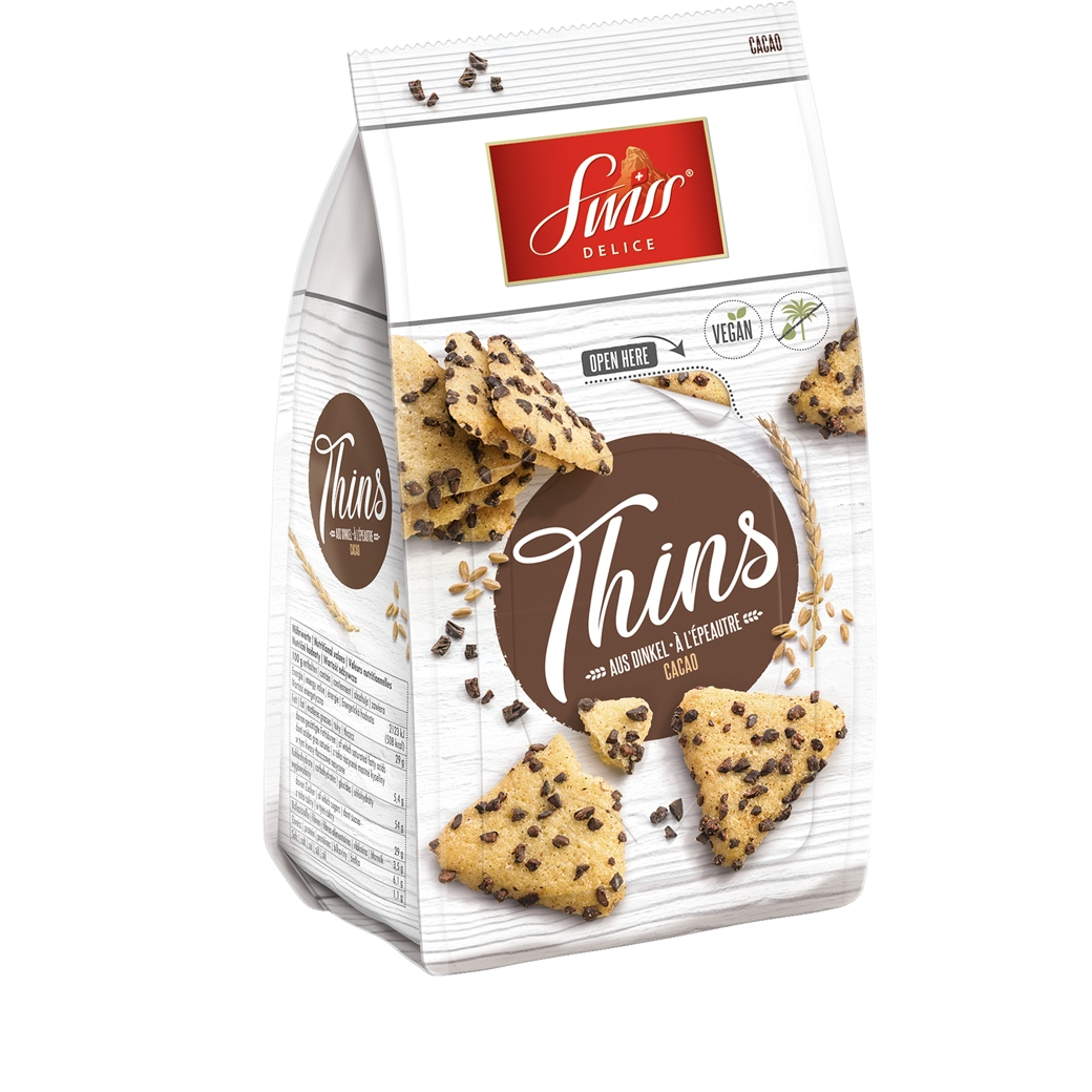 Swiss Delice «Thins» Cacao - 100g