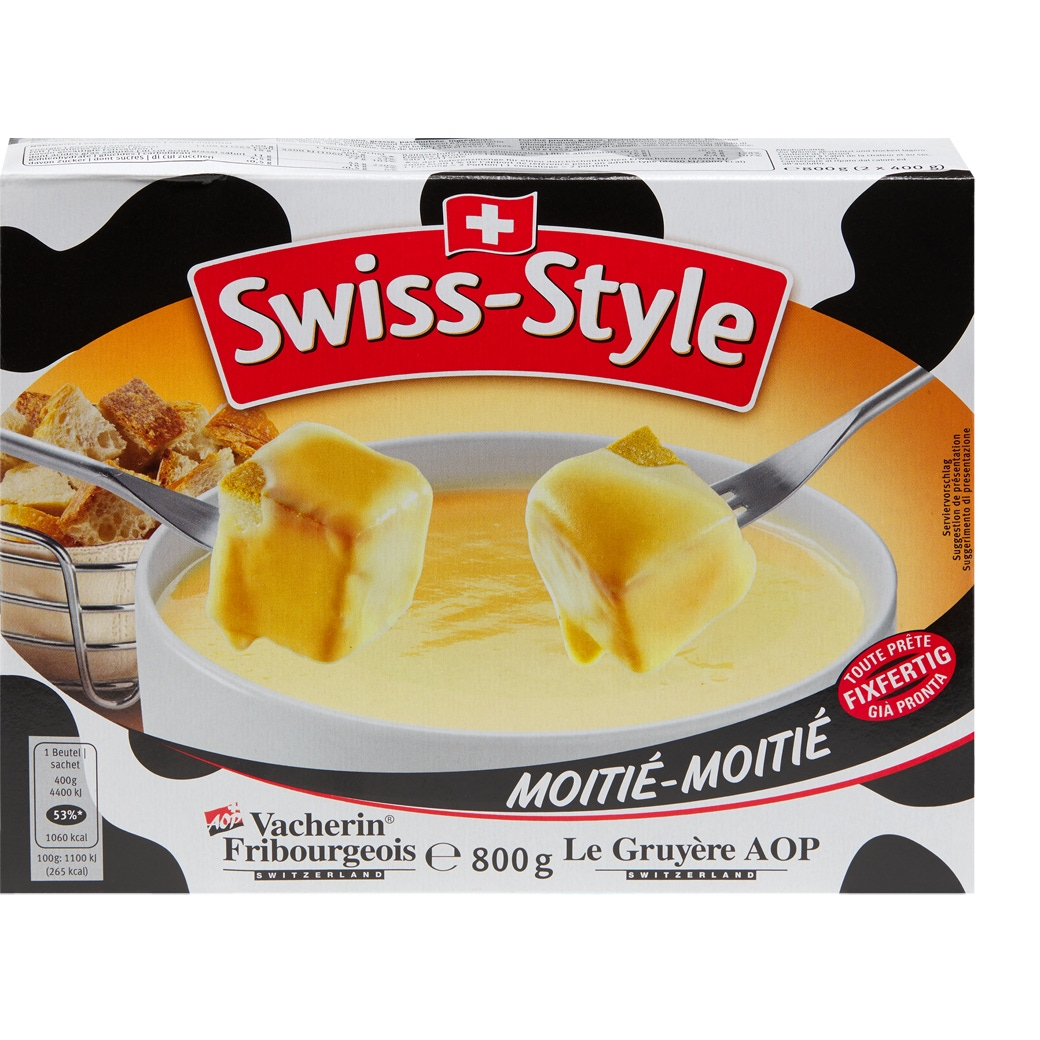 Fondue Swiss Style 'Moitié-Moitié'