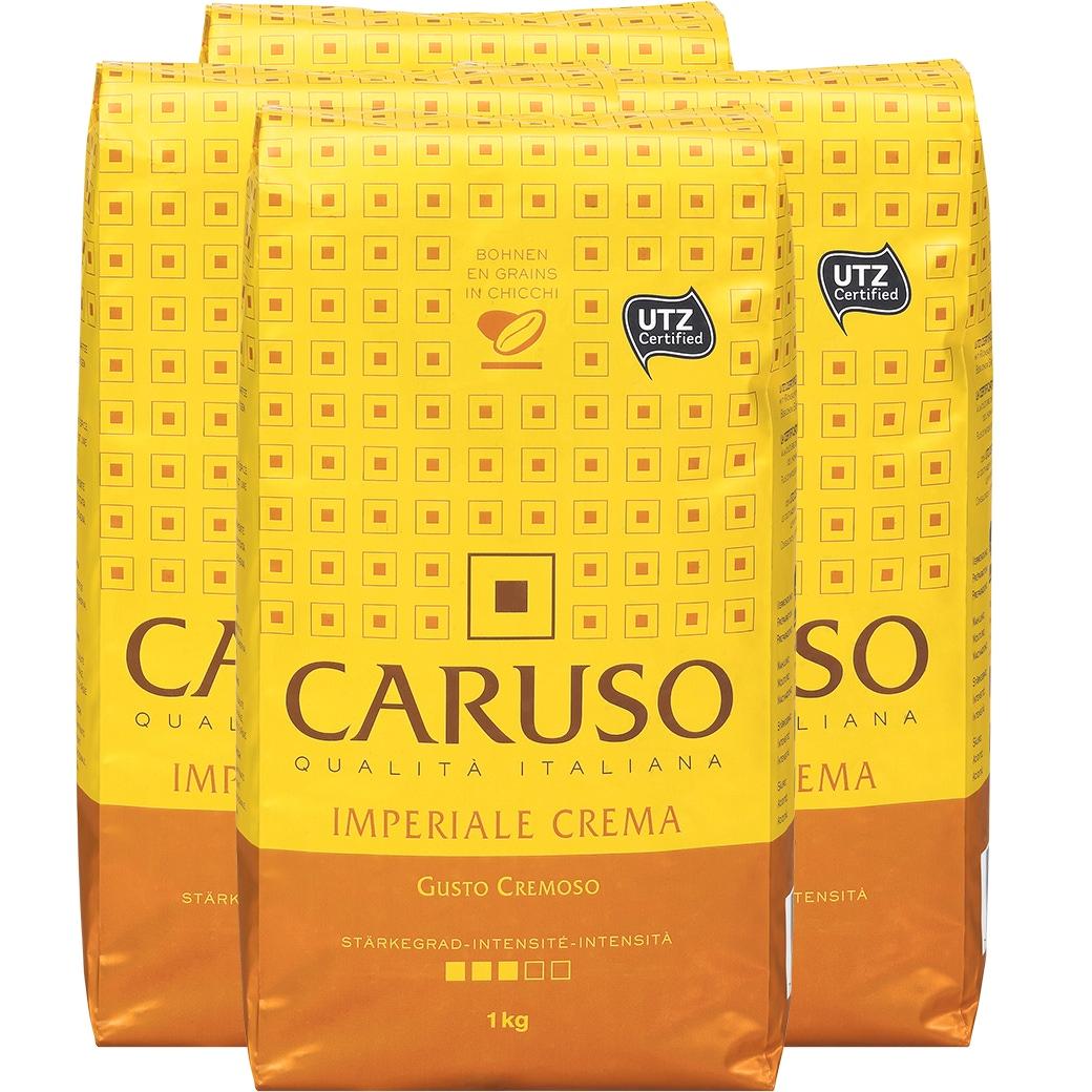 Kaffee Caruso 'Imperiale Crema' Bohnen 4x1kg