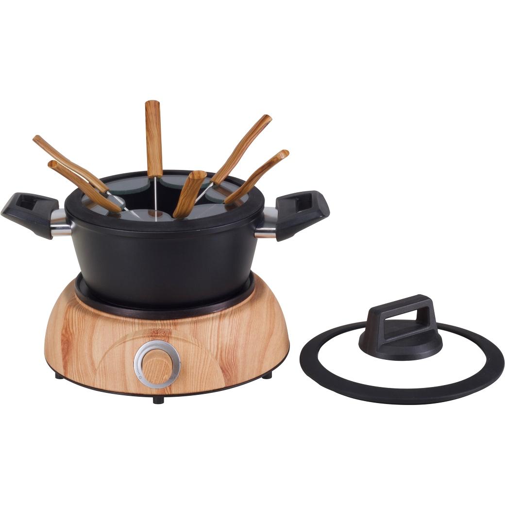 Fleischfondue-Set Elektro «Wood» - 10-teilig