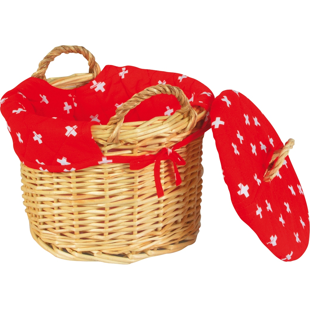Kartoffelkorb 'Schweizerkreuz' rot