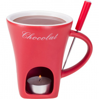Schokoladenfondue-Tasse 'rot'