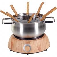 Fleischfondue-Set Elektro «Wood Inox» - 11-teilig