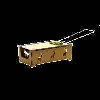 Raclette mit Rechaudkerzen «Steinbock» braun