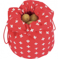 Kartoffelsack 'CH-Kreuz' rot