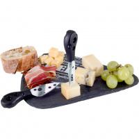 Schieferplatte - Käsebrett Set