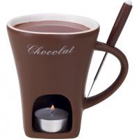 Schokoladenfondue-Tasse 'braun'
