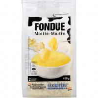 Fondue 'Moitié-Moitié' gerieben