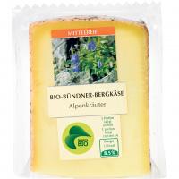 Alpenkräuter Bio Bündner-Bergkäse - 250g